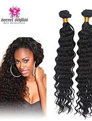"""3pcs / lot 8 """"-26"""" malaysisches reines Haar tiefe Welle Menschenhaareinschlagfäden 100% unverarbeitetes malaysischer remy Haar spinnt"""