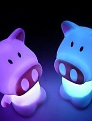 LED Discolour Pig Shaped Night Light