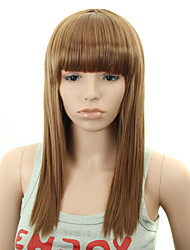Synthetic Wig 22 Inch Long Fashion Women Straight Wigs with Bangs