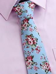 Krawatten (Schwarz/Rosa/Hellblau/Elfenbein , Baumwolle) Muster