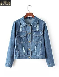 Europe The 2015 Fall Fitted New Women's Wear Jeans Jacket