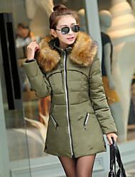 Women's Hoodie Pocket Coats & Jackets , Casual/Work Long Sleeve Paranoid