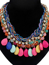 MISSING U Vintage / Party Alloy / Rhinestone / Gemstone & Crystal Statement Necklace