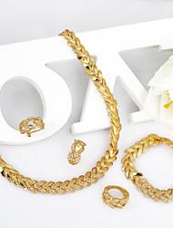 WesternRain Women's Alloy / Rhinestone Jewelry Set Rhinestone 18K Gold Plated Choker Chunky Statement Jewelry sets