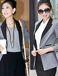 Women's Tailored Collar Coats & Jackets , Casual/Work Long Sleeve Paranoid
