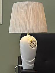 lámparas de escritorio blanco de tela de resina 220v europeo clásico retro