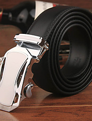 New Brand World Classic Fashion Design Men's Belt Luxury Automatic Buckle Leather Belt Men Leather Strap