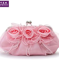 AIKEWEILI®Women's Evening Bag Fashion Silk Bride Flower Clutch Bag Korean Style All-Match Wedding Party Purse