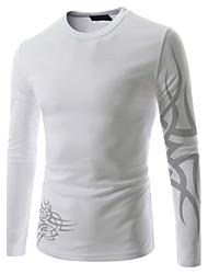 Informeel Shirt Kraag - MEN - T-shirts ( Katoen / Katoenmengeling )met Lange Mouw