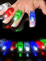 4PSC Led Laser Finger Light Beams Torch Ring Kids Boy Dancing Party (Random Color)