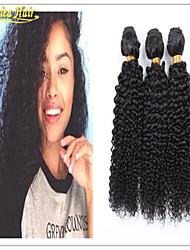 3 Pcs/Lot Cheap Afro Curl Human Hair Weave Grade 8A Virgin Brazilian Kinky Curly Hair Weft Free Shipping 3Pcs
