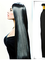 1pc/Lot 16 Inch/40cm Jet Black Etc 17 Colors Straight Nail Tip Hair Extension Human Hair Extension 100s/Pack 0.4g/s
