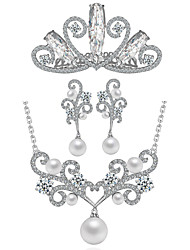 Latest Design Popular Flower Shaped Earring and Necklace Wedding Jewelry Set