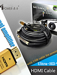 50 Meters HDMI Cable With IC Signal Amplifier Chip male to male V1.4 HD 1080P For HDTV PS4 XBOX