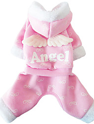 Lovely Angel Wing Hooded Coat for Pet Dogs(Assorted Sizes,Colors)