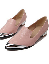 Women's Shoes   Low Heel Pointed Toe Flats Casual Pink/White/Beige