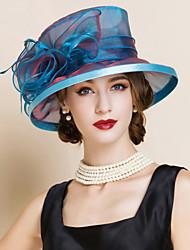 Mulheres Organza Capacete-Casamento Ocasião Especial Chapéus 1 Peça