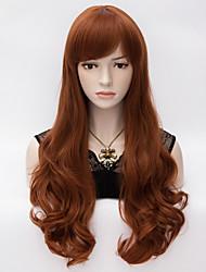 mergulhado onda marrom naughty calor sintético vinho fantasia resistente peruca de cabelo vermelho