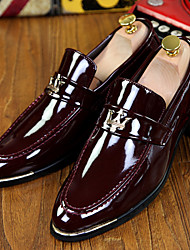 Men's Shoes Office & Career / Party & Evening / Casual Patent Leather Loafers Black / Blue / Burgundy