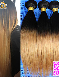 "3Pcs/Lot 10""-30"" Peruvian Virgin Hair Color 1B27 Straight Human Hair Weaves"