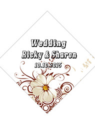 Personalized Wedding Tags Address Labels Envelope Sticker White Pattern Of Filmed Paper