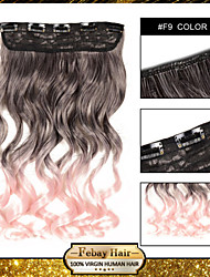 High Temperature Resistance Two-tone 24 Inch 5 Clip Hairpiece Extension 16 Colors Available F9