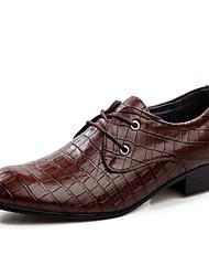 Для мужчин обувь Кожа Весна Лето Осень Зима Формальная обувь Туфли на шнуровке Для прогулок Цепочки Назначение Свадьба Повседневные Для