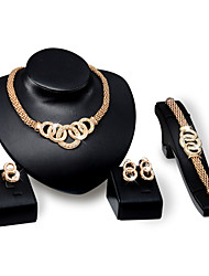 Fashion Explosion Necklace Earrings Bracelet Ring Jewelry Set