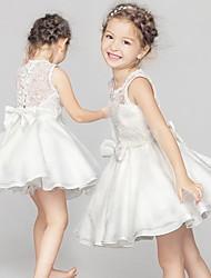 BHL New Children Girls Sleeveless White Princess Wedding Evening Dresses Ball Gown Dress Event Party Show Dress 3M~6Y