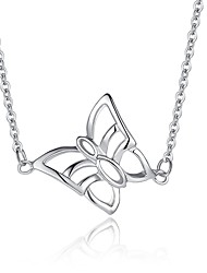 Fine Jewelry 925 Sterling Silver Cute/Party/Work Sterling Silver Pendant Necklace Sweater Chain Butterfly necklace