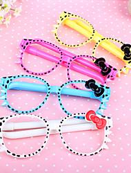 Glasses 2 Ball Pens Novelty Kids Toys School Office Gift Cute Cartoon Stationery(4PCS)