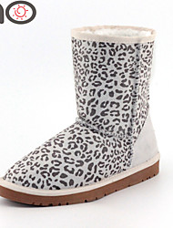 MO Winter Women Shoes New Fashion Genuine Leather Fur Female Warm Women Snow Boots and Autumn
