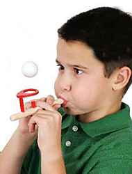 Floating Ball Game Wood Blow Ball Toy Fun Gift for Kids and Adults