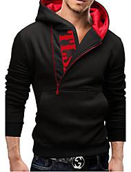 Men's Hoodie Sweats & Hoodies , Cotton / Cotton Blend Long Sleeve Casual Fashion Winter / Fall LEMON