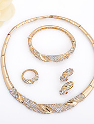 WesternRain Gold Plated Jewelry Set 18K of 4 Pieces,High Quality Charming Wedding Bridal Jewelry Set