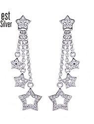 Japan and South Korea Set Auger Eardrop Trend of Silver Stars R057