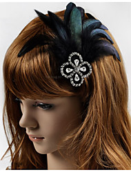 Hand Made Wedding Feather Hair Clip Fascinator Headpieces Fascinators 016