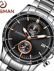 EASMAN Brand Watch Men 2015 Brand Black Multifunction Fashion Sport Watches Steel Wristwatch Auto Date Quartz Watch