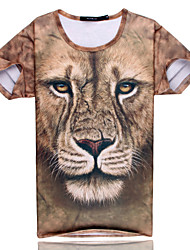 2015 Men's Summer High Quality Creative Fashion Personality Leisure Cute Space Cotton 3D T-Shirt —— The Lion