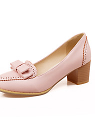 Women's Shoes Chunky Heel Heels/Closed Toe Pumps/Heels Outdoor/Dress/Casual Blue/Pink/Beige