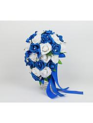 Bouquets ( Bleu , Soie/Mousse ) Roses