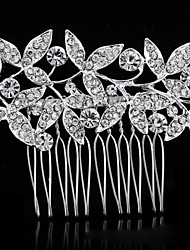 Bride's Leaves Shape Rhinestone Forehead Wedding  Hair Combs Accessories 1 PC