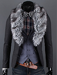 Autumn And Qinter Fashionable Casual Buckle Fur Collar Woolen Disassembly Fur Collar Suit Slim Jacket Outerwear