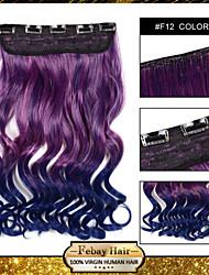 resistencia a altas temperaturas en dos tonos ondulada extensión peluca 5 clip de 24 pulgadas 16 colores f12 disponibles