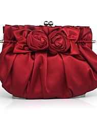 Handbag Matte Silk/Silk Evening Handbags/Clutches/Mini-Bags With Flower