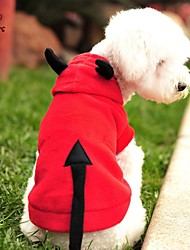 kočičky pejsky Kostýmy mikiny Červená Oblečení pro psy Zima Jaro/podzim Upír Roztomilé cosplay Halloween