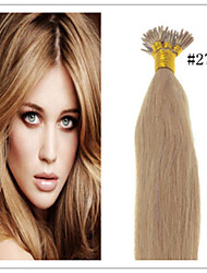 Cheap Brazilian Virgin Keratin Fusion Hair Extension Stick Hair/I Tip Pre-bonded Hair 1G/S 50G/PC 1Pc/Lot In Stock