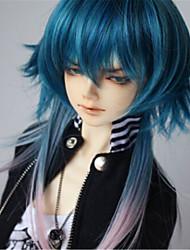 """tita 1/4 7/8 """"dal msd pullip bjd sd STUI cena Dollfie muñeca azul mezcla peluca corta"""