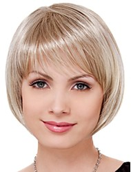 New Fashion Short Bob Light Blonde Straight Women Full Wig