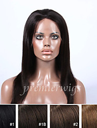 2015 Top Selling 12''-24'' Yaki Virgin Chinese Human Hair Wigs full Lace Front Wigs With Baby Hair For Black Women